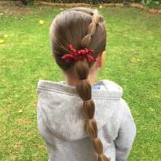 "92 Likes, 12 Comments - Angela Hewer (Fackrell) (@angelahewer) on Instagram: ""Today's hair styles Ava has a bubble braid & Lacey has a small accent braid into pigtails. SWIPE…"""