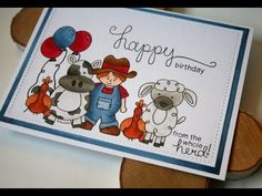 This video shows masking and copic coloring on a clean and simple card for the Newton's Nook March Release of Farmyard Friends. Check out the blog hop at htt...