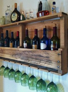 Pallet Wine Rack by DuffsDecorAndMore on Etsy
