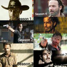 Rick Grimes evolution Seasons 1-7