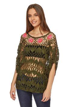 Venta Riverside / 25851 / Camisetas y blusas / Poncho Caqui