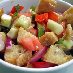 One of my favorite salads! Yum. Panzanella (Ina Garten)