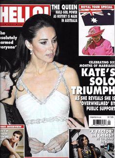 Hello magazine Kate Middleton Queen Elizabeth Helen Flanagan Scarlett Johansson