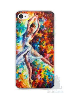 Capa Iphone 4/S Bailarina Pintura - SmartCases - Acessórios para celulares e tablets :)
