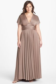 Twobirds Convertible Jersey Gown (Plus Size) by Twobirds on @nordstrom_rack