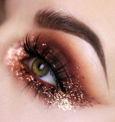 """42 Likes, 3 Comments - It's All About Makeups (@itsallaboutmakeups) on Instagram: """"If this glittery eye makeup look won't blow you away, I don't know what will. Double tap if you…"""""""