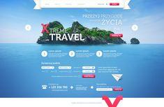 Travel Agency by Sansana.deviantart.com on @deviantART #webdesign #layout #interface