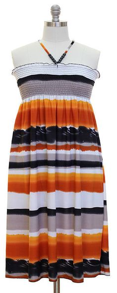 Awesome Awesome Womens Summer Casual Halter Top Dress Plus Size XL 1X 12/14 Orange Black Striped 2017 2018 Check more at http://24store.cf/fashion/awesome-womens-summer-casual-halter-top-dress-plus-size-xl-1x-1214-orange-black-striped-2017-2018/