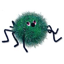 pom pom spiders. Would be good with pipecleaner legs.