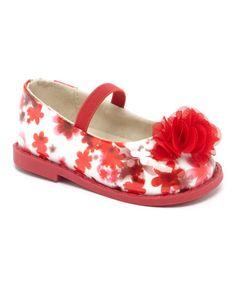 Love this Red Flower Flat on #zulily! #zulilyfinds