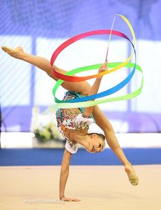 Arina AVERINA (Russia)🇷🇺 ~ Ribbon @ Russian🇷🇺 National Championship 2017 @ Penza ❤️ Photographer 🇷🇺Oleg Naumov. Gymnastics Poses, Gymnastics Photography, Sport Gymnastics, Artistic Gymnastics, Rhythmic Gymnastics Leotards, Russian Gymnastics, Young Gymnast, Human Body Art, Dream Bodies