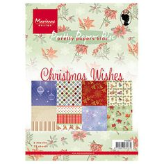 Marianne Design Paper Bloc - Christmas Wishes - Marianne Design, Craft Shop, Christmas Wishes, A5, Paper, Crafts, Pretty, Manualidades, Handmade Crafts