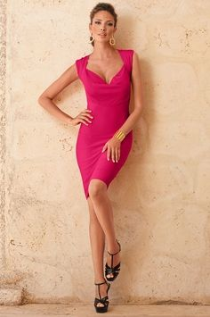 Boston Proper Drape front banded dress #bostonproper