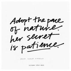 Patience, my friends.
