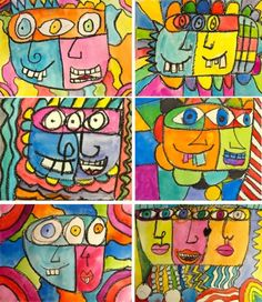 James Rizzi Art Lesson -  looks colourful and fun!