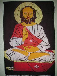 Jesus in meditation batik