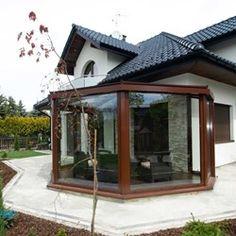 Ogród Zimowy Kraków 5, Ogród Alpina Ogrody Zimowe & Szkło Architektoniczne - homebook House Elevation, Dream House Plans, Gazebo, Outdoor Structures, House Exteriors, Patio, Design, New Houses, Facades