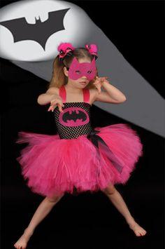 Batman superhero girly costume black and pink. $59.00, via Etsy.