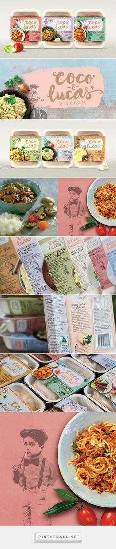 Coco & Lucas' Kitchen Frozen Foods — The Dieline - Branding & Packaging…