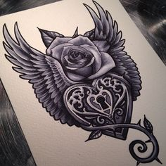 40 Best Lock and Key Tattoos Check more at http://tattoo-journal.com/40-best-lock-and-key-tattoos/