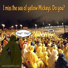 Do you remember the sea of yellow Mickeys?