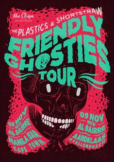 halloween poster Friendly Ghosties Tour by Ian Jepson Halloween Party Poster, Soirée Halloween, Halloween Flyer, Design Graphique, Art Graphique, Graphic Design Typography, Graphic Design Illustration, Typography Art, Grid Design