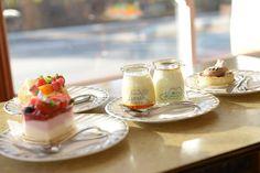 Cake & Pudding / おいしいケーキや河口湖プリン  http://www.siragazome.jp/somegatari/21/index.html