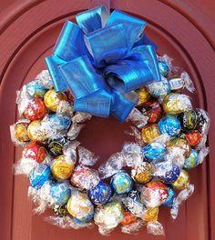 Chocolate Candy Wreath Edible Unique Hostess Gift Gourmet
