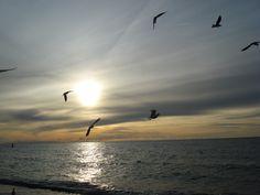 Dąbki- wieczór nad morzem.