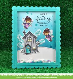 the Lawn Fawn blog: Frosty Fairy Friends Card by Kelly Marie Alvarez.