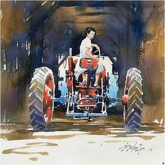 Miss You Mom by Thomas W. Schaller Watercolor ~ 15 inches x 15 inches
