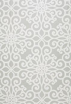 Schumacher // Pattern: Rosegate Embroidered Print // Color: Pumice // SKU - 174562