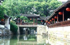 水乡古镇锦溪的桥