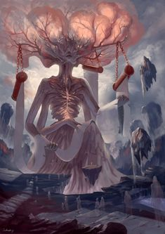 Digital Art Fantasy Angels Ideas For 2019 Dark Fantasy Art, Fantasy Artwork, Fantasy Kunst, Fantasy Concept Art, Fantasy Monster, Monster Art, Art Épouvante, Creepy Art, Fantasy Landscape