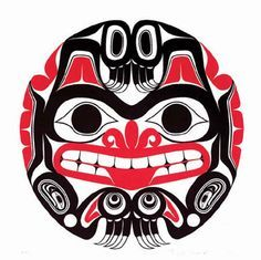 Haida tattoos meanings, history, symbology with Haida Tattoo graphics, images and picture tdeas. Haida Kunst, Inuit Kunst, Haida Art, Inuit Art, Haida Tattoo, Totem Tattoo, Arte Tribal, Tribal Art, Tribal Wolf