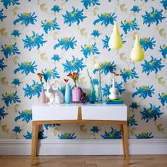 Graham & Brown Julien MacDonald Fabulous Teal Wallpaper. #laylagrayce #new #wallpaper