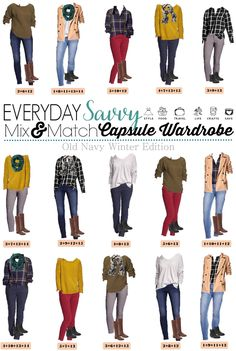 This fun Old Navy winter capsule wardrobe will having you looking great this winter. It is so easy to mix and match these pieces.