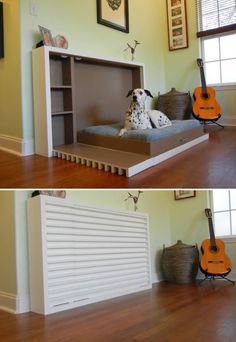 Pet Murphy Bed - This would be so useful for the dog beds in the bedroom! Definitely one for 'The List' :)