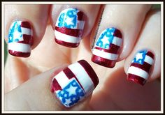 Southern Sister Polish: Nail Art Wednesday: Flag Manicure
