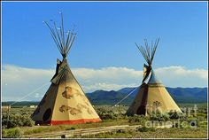 Native American Teepees-No.2 by Dora Sofia Caputo