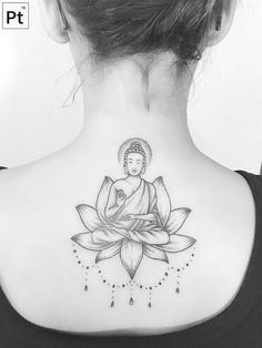 buddah pointillism tattoo