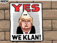 Donald Trump Cartoons: Yes We Klan