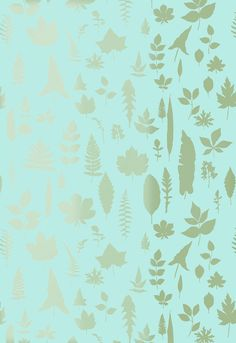 Wallcovering / Wallpaper | Leaves in Azure | Schumacher shop.wallpaperconnection.com