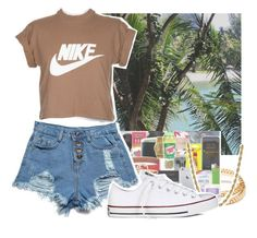 """Summer Vibes"" by makkisme ❤ liked on Polyvore featuring Forever 21, M.S.P., NIKE, Lord & Taylor and Converse"