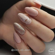 Nail art Christmas - the festive spirit on the nails. Over 70 creative ideas and tutorials - My Nails Spring Nail Art, Spring Nails, Nude Nails, Manicure And Pedicure, Acrylic Nails, Hair And Nails, My Nails, Prom Nails, Wedding Nails