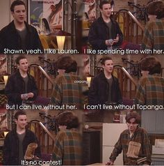 Moment of truth Lauren stinks Boy Meets World Quotes, Girl Meets World, Tv Show Quotes, Film Quotes, Rider Strong, Cory And Topanga, Nickelodeon Cartoons, Boy Meets Girl, Disney Shows