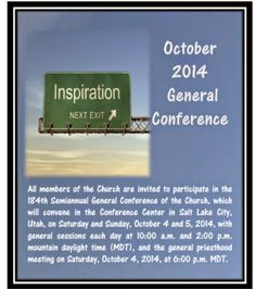 Didi @ Relief Society: October 2014 General Conference Reminder Card