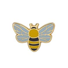 Harmonious Honey Bee Enamel Pin Slow Loris, Cool Pins, Hard Enamel Pin, Pin And Patches, Etsy Crafts, Flower Brooch, Lapel Pins, Bee, Retro