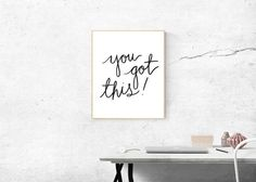 2017 is going to be big – for you, your career, your blog and your business. One of the best ways to stay motivated is to work in a positive environment. Spruce up your office space with these two fre