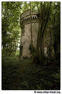 Chateau Clochard, France. The abandoned castle was built in the 14th century to guard the French against the English.